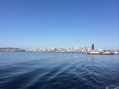 View from the West Seattle to Downtown Seattle water taxi