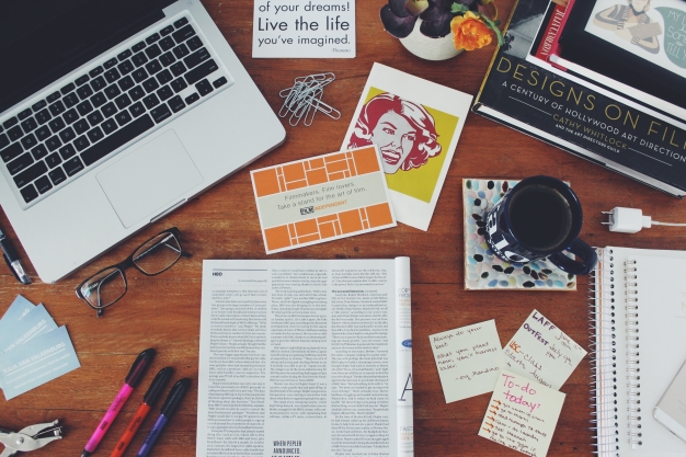 Desk + things